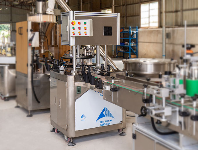 Can packaging machine line