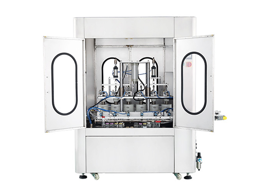 Viscous Liquid Filling Machine with the door open
