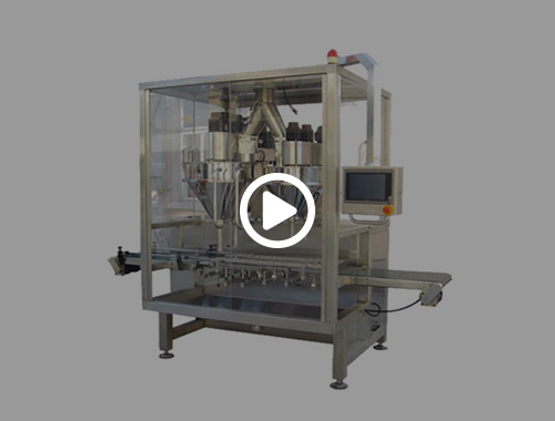 Double heads powder filling machine