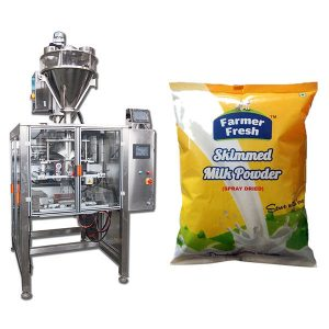 Milk Powder packing Machine with a pack of snacks