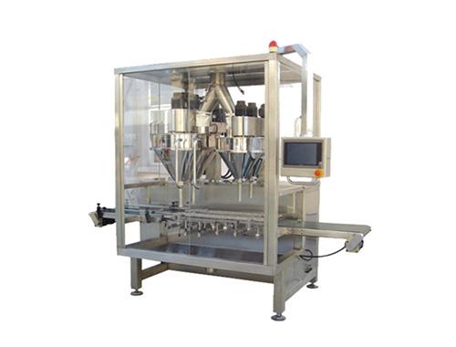 Double heads powder filling machine