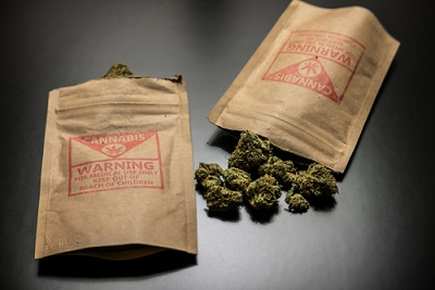 Legal Cannabis Flowers and Packages_325133276