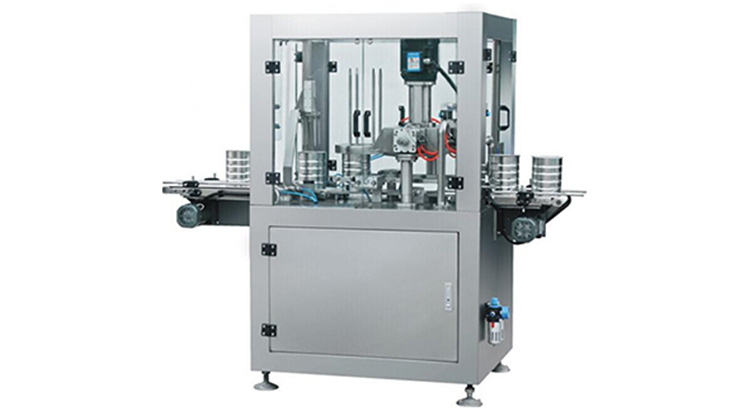 Fully automatic round powder can sealing machine