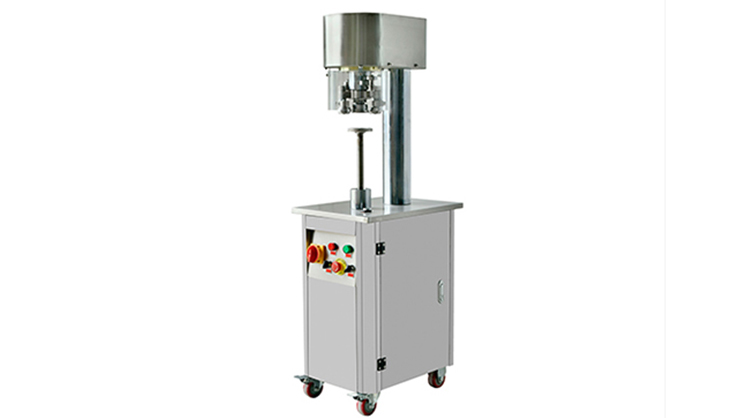 Non-rotary powder can seaming machine