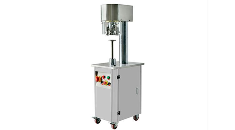 Non-rotary powder can seaming machine