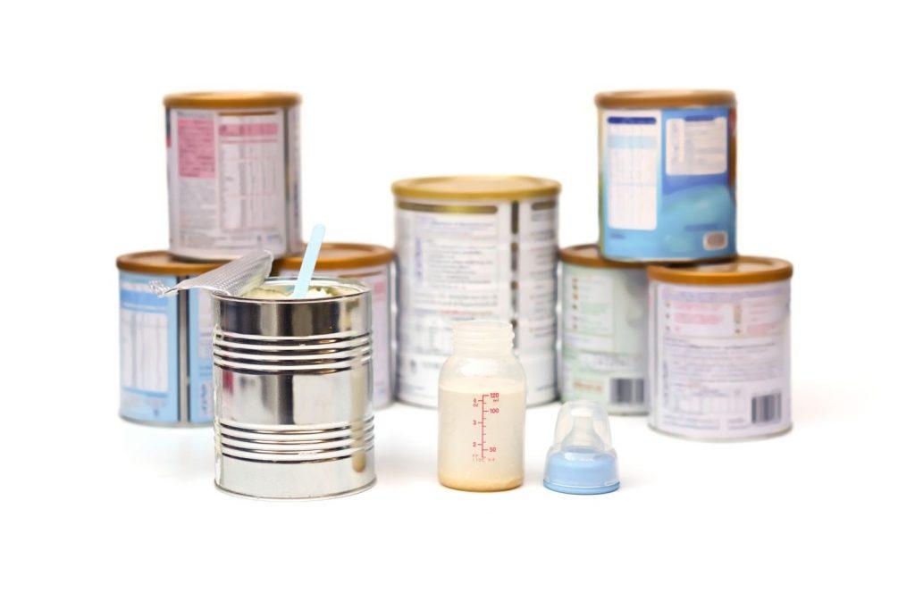 milk powder cans